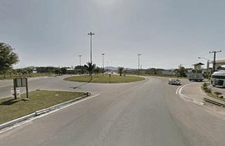 Trevo de acesso a Indaial e Timbo (Foto do Google Maps)