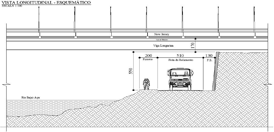 Rebaixamento da rua Itajaí sentido centro (Novaponte)