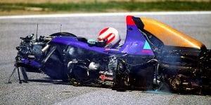A morte de Ratzenberger no sábado, o prelúdio do desastre (divulgação)