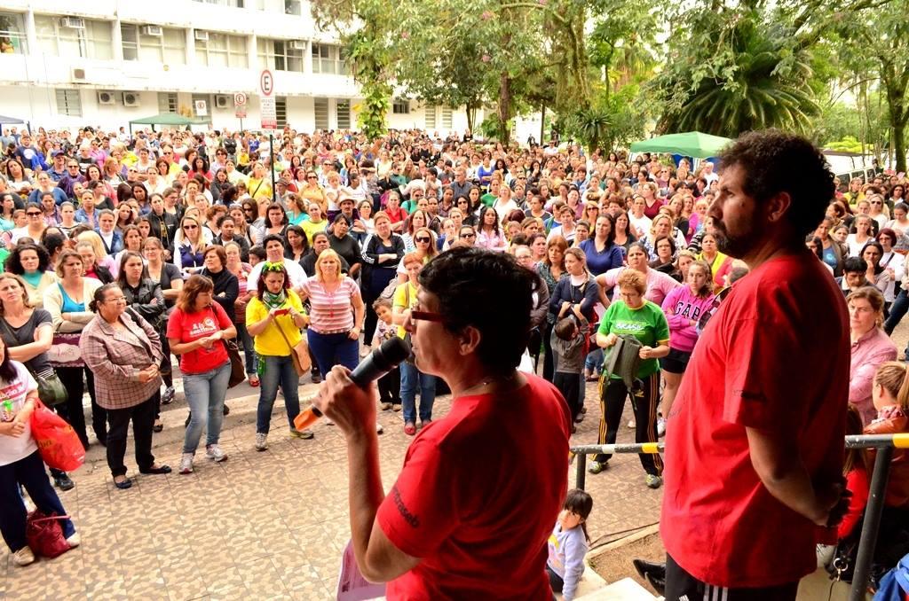 Foto de arquivo da greve (Sintraseb)