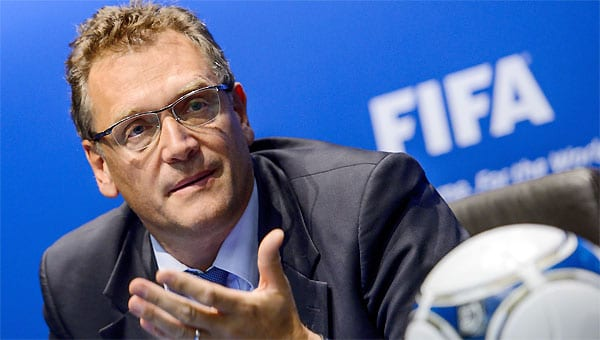 Jérôme Valcke (AFP Photo/Fabrice Coffrini)