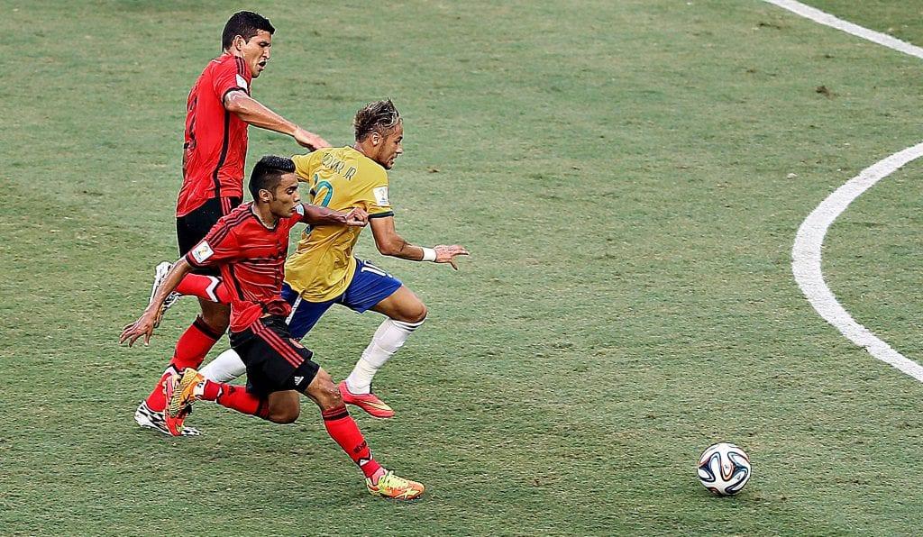Neymar durante jogo contra o México (Créditos: Ricardo Stuckert / CBF)