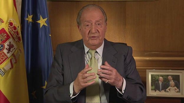Na TV, rRei Juan Carlos se despede dos espanhóis e dos 39 anos de reinado (BBC)