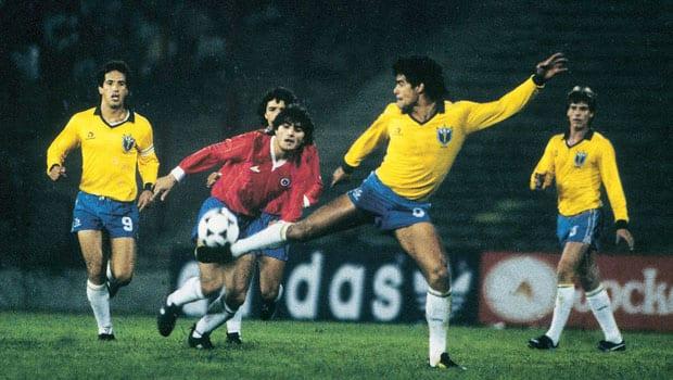No fim dos anos 80, os confrontos mais duros entre Brasil e Chile (Globo Esporte)
