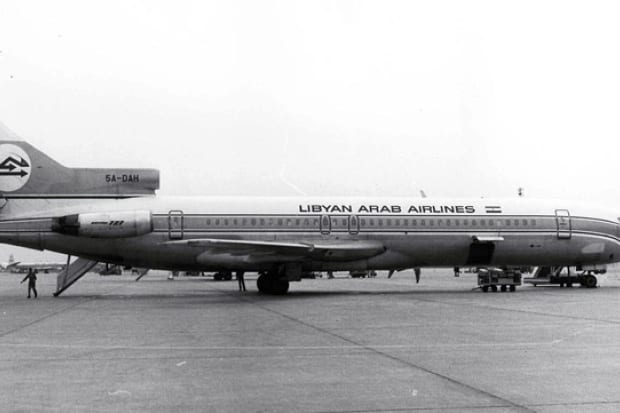 Boeing 727 da Libyan Arab Airlines, abatido por israelenses ao cruzar o Sinai, em 1973 (O Tempo)