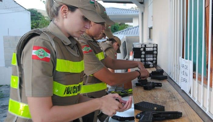 Polícia Militar de SC forma 202 mulheres para o posto de soldado nesta sexta (Jaqueline Noceti/Secom)