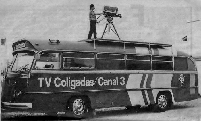 Unidade móvel da TV Coligadas. Aventura de fazer televisão em SC começava há 45 anos, e em setembro (Antigamente em Blumenau)