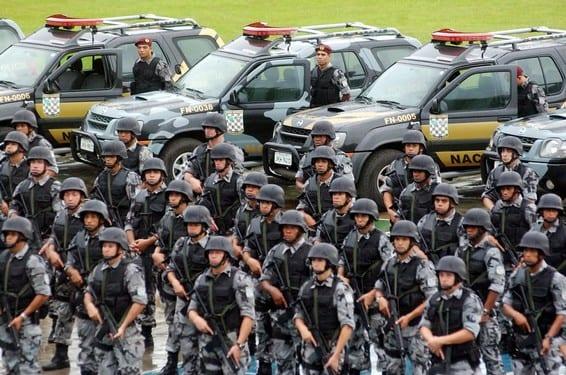 Soldados da Força Nacional (Fabio Pozzebom/ABr - Agência Brasil)