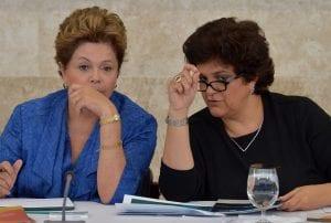 Dilma e a ministra do Izabella Teixeira (Wilson Dias/ABr)