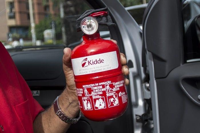 Extintor de incêndio do tipo ABC (Marcelo Camargo/Agência Brasil)