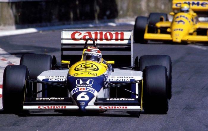 Nelson Piquet campeão em 1987, um dos sete brasileiros a guiar para a Williams (Getty Images)