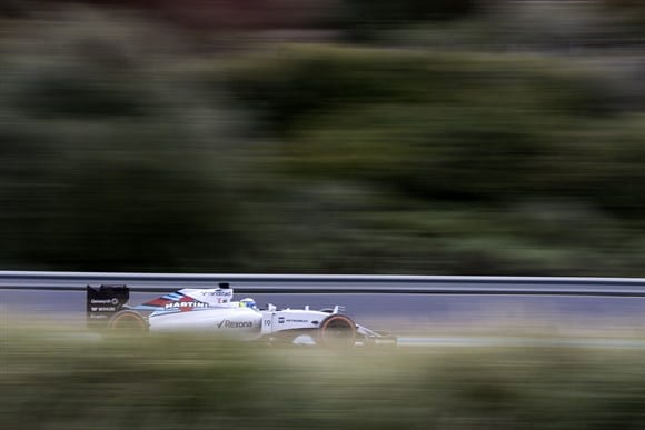 Massa andou pela primeira vez com o novo carro na última terça, e gostou do que viu (Xavi Bonilla/Grande Premio)