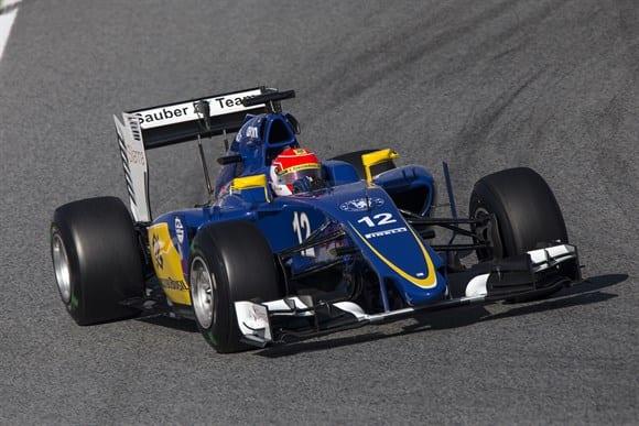 Mais detalhes no azul-royal da Sauber (Xavi Bonilla/Grande Prêmio)