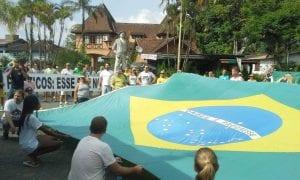 Protesto em Pomerode (Tailene Quintino)