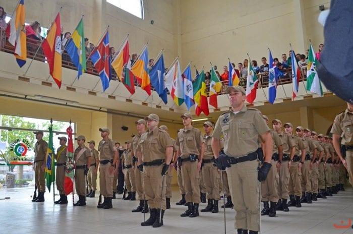 Formatura do 9º Batalhão da Polícia Militar no ano passado (Diego Colombo / SDR Criciúma)