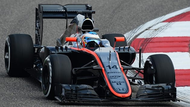 Alonso comanda o McLaren-Honda em Xangai. Paciência do espanhol e trabalho do time de Working parecem estar dando resultado (Marca)