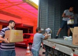 Blumenau envia donativos para Xanxerê