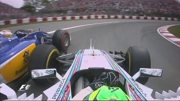 Massa largou em 15º, mas usou da experiencia e arrojo para chegar em sexto. Ultrapassagem sobre Ericsson (foto) foi a mais bela (TV)