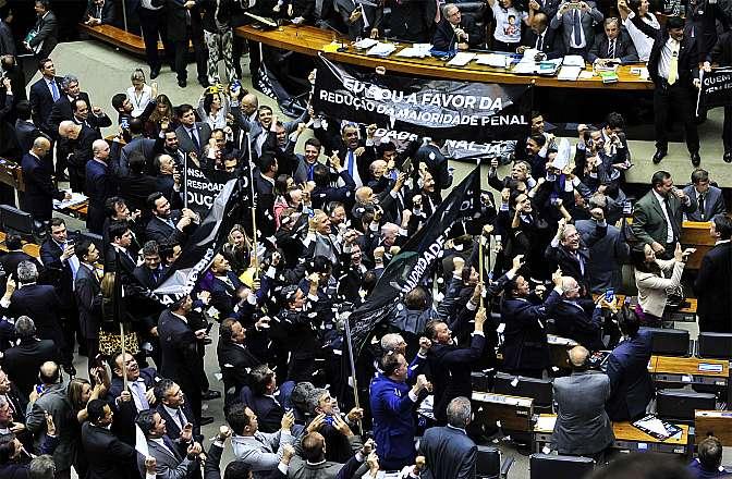 Câmara aprova em 1º turno redução da maioridade penal em crimes hediondos (Luis Macedo/Câmara dos Deputados)