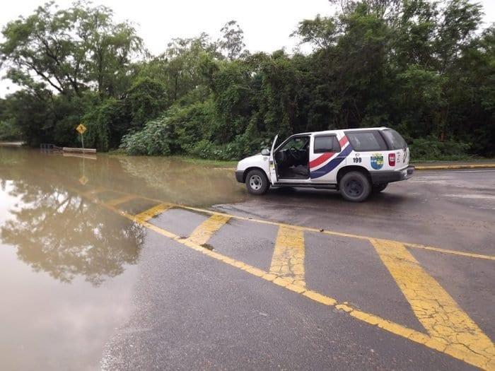 Rio do Sul foi uma das cidades do Vale do Itajaí em situação de emergência (SDC Rio do Sul)