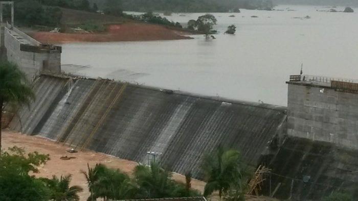 A barragem Oeste de Taió verteu (SDC/SC)