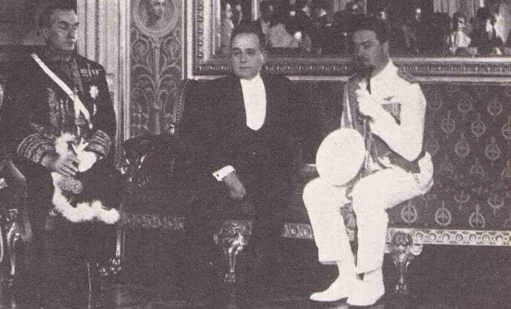 O líder fascista Italo Balbo e Getúlio Vargas no Palácio do Catete, em 15 de janeiro de 1931.