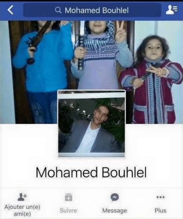SEM CONSTRANGIMENTO: Foto de capa no facebook do terrorista islâmico, autor do massacre em Nice-França.