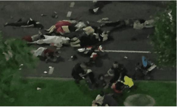 NICE/FRANÇA -Promenade des Anglais, 14 de julho de 2016: 84 mortos.