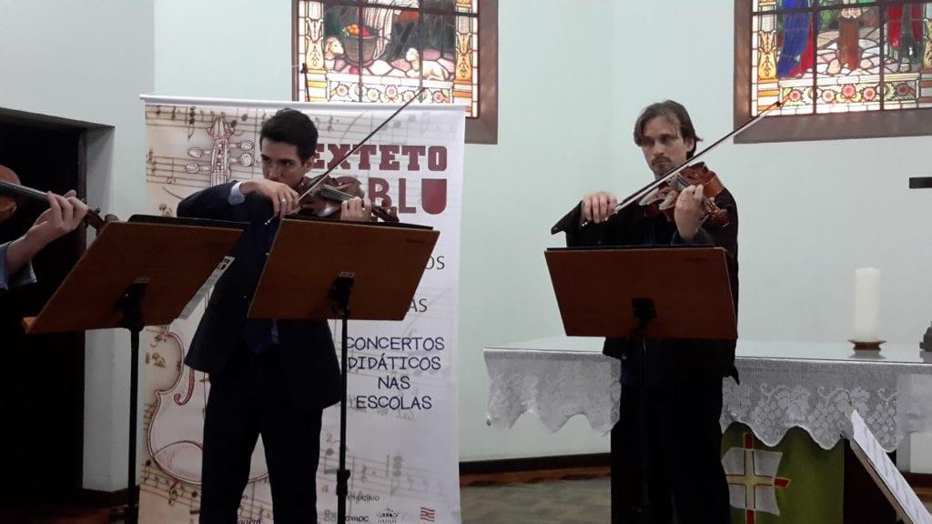 Na última semana o quarteto se apresentou na Igreja Luterana da Velha