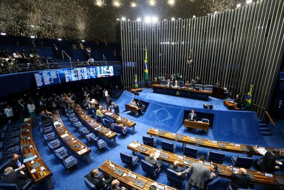 Embora a votação seja aberta, ela será eletrônica, no painel, e não haverá chamada nominal para que os senadores pronunciem seus votos oralmente (Marcelo Camargo/Agência Brasil)
