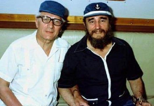 DISFARCE À PAISANA - Em 1980, Erich Honecker, presidente da Alemanha Oriental e o supremo comandante Fidel Castro em Cuba. Honecker negou a proposta de uma Alemanha unificada e aprovou a posição defensiva.