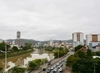 Vista para o Rio Itajaí-Açu - foto da PMB