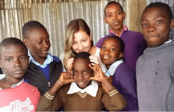 Laynara Grutzmacher no Quênia