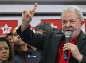 Ex-presidente Lula dá entrevista coletiva na sede do PT Nacional, em São Paulo (RicardoStuckert)