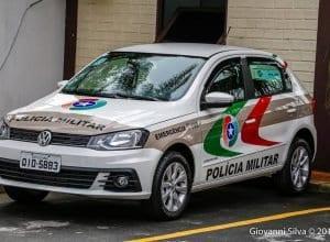 Viatura da Polícia Militar de Blumenau - foto de Giovanni Silva