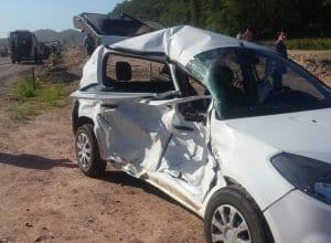 Acidente entre quatro veículos deixou vítimas em estado grave (Arcanjo 03)