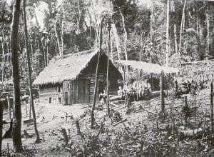 Primeiras instalações do imigrante - Colônia Blumenau (Arquivo Histórico José Ferreira da Silva)