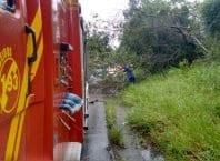 As chuvas podem causar inundações, deslizamentos de terra, destelhamentos, panes elétricas, entre outras ocorrências (CBMSC)
