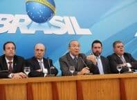 Brasília - Ministros e líderes do governo no Congresso anunciaram a pauta prioritária do governo, em coletiva no Palácio do Planalto (Fábio Rodrigues Pozzebom/Agência Brasil)