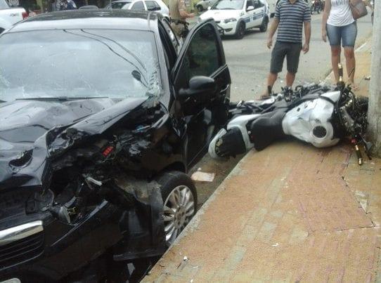 Acidente causa morte de motociclista na Rua General Osório (Eder/Leitor)