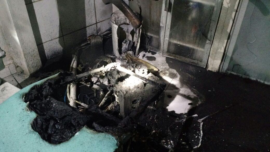 Cadeira de dentista pode ter sofrido princípio de incêndio (CBM)