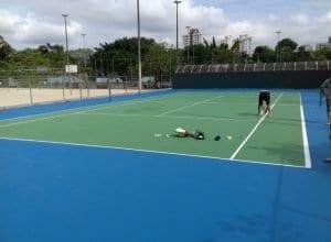 Quadra de tênis do Parque Ramiro Ruediger