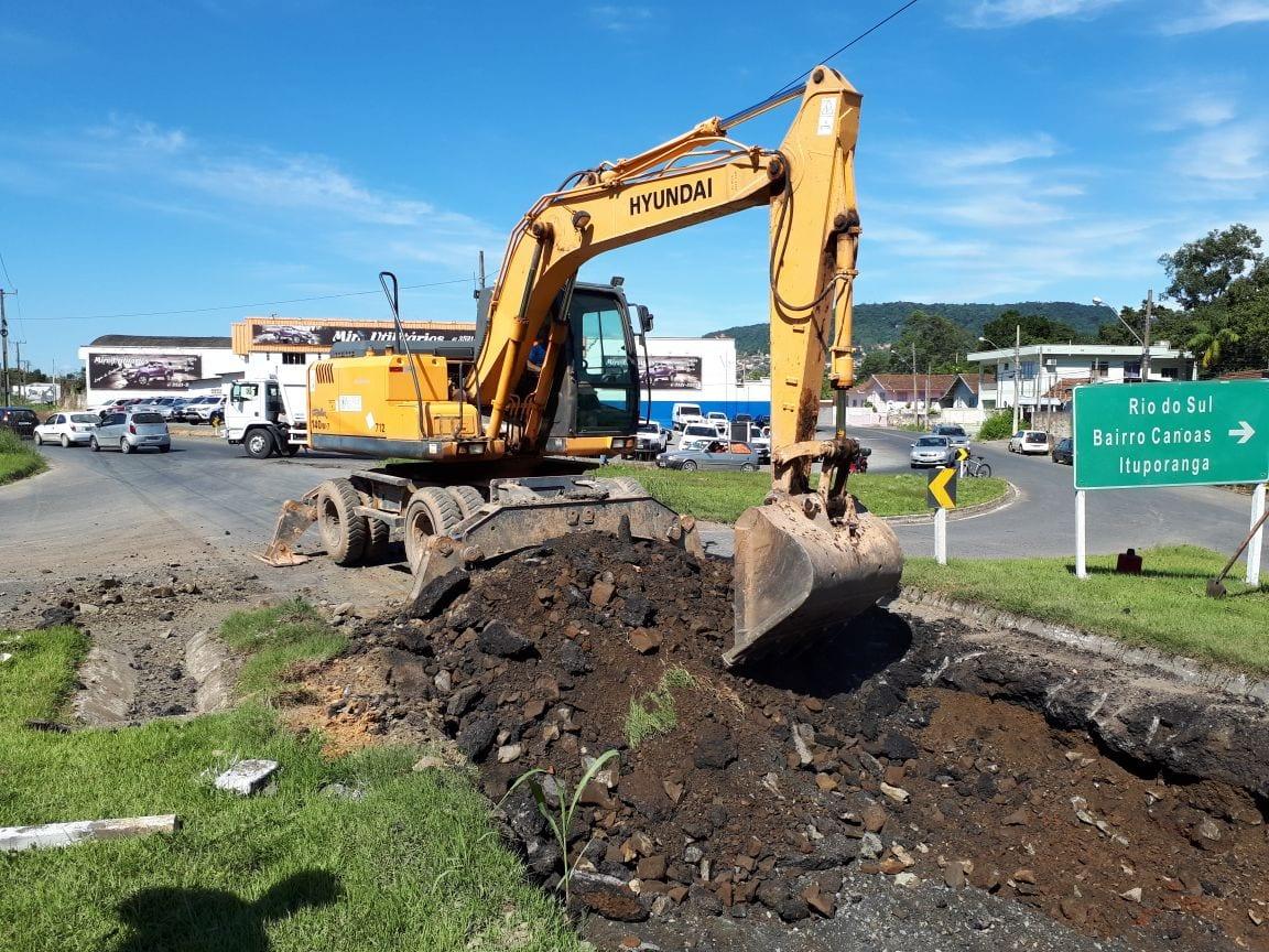 Obras na BR-470 em Rio do Sul (DNIT)