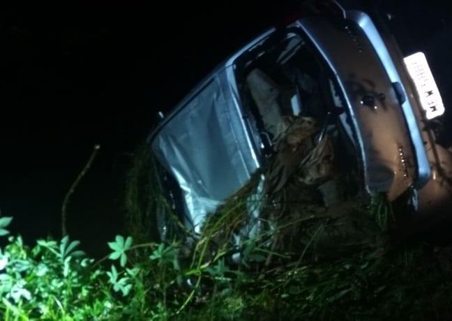 Veículo foi encontrado pelo Corpo de Bombeiros na noite de sábado (Corpo de Bombeiros/Assessoria)