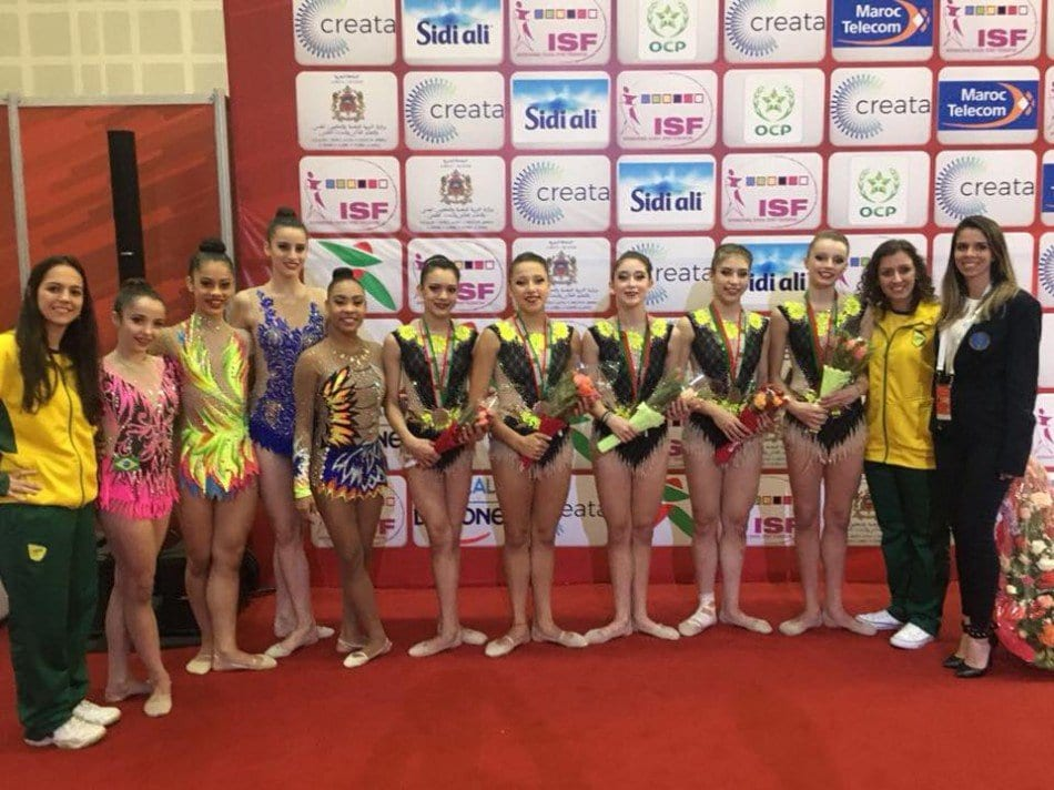 Ana Carolina Sandrini integrou a Seleção Brasileira campeã por equipes no Marrocos.