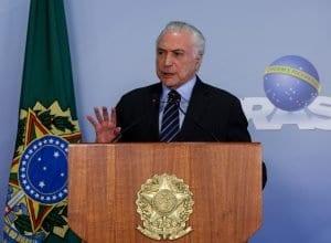 Presidente da República, Michel Temer, durante declaração à imprensa (Marcos Corrêa - PR)