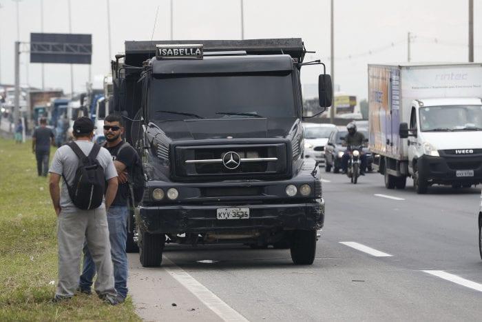 Protesto de caminhoneiros em 2018 - foto de Fernando Frazão - Agência Brasil