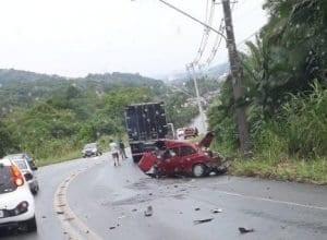 Acidente na Serra da Vila Itoupava (Divulgação)