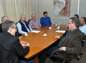 Reunião entre o prefeito Mário Hildebrandt e o juiz Dr. Sérgio Agenor de Aragão (Eraldo Schnaider)