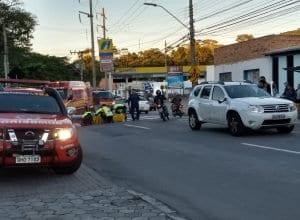 Bombeiros atenderam a ocorrência de atropelamento (Wellington - Leitor)
